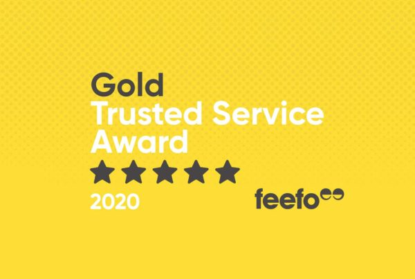 Feefo Gold Trusted Service Award - yellow image