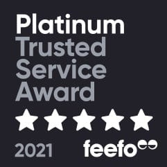 IT Support London - Platinum Trusted Service Award - Feefo 2021